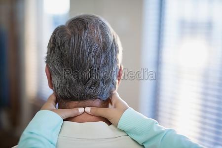 close up of female therapist massaging