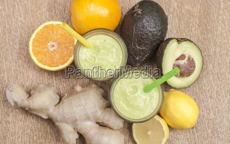 ginger avocado shot healthy power drink