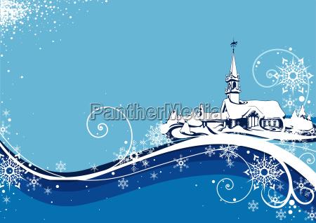 abstract blue christmas
