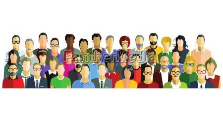 people participants group illustration