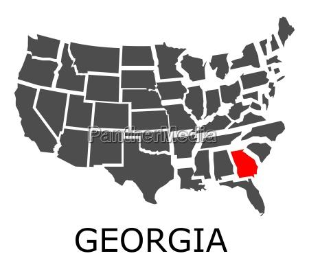state of georgia auf der karte