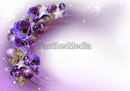 purple christmas wreath background