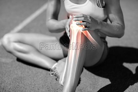 niedriger abschnitt des athletender unter knieschmerzen