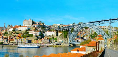 porto skyline portugal