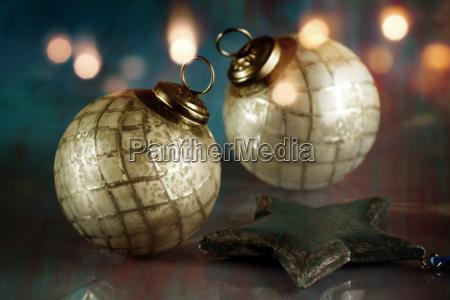 festive antique christmas balls