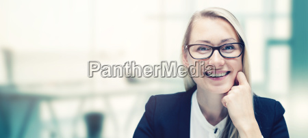 modern smiling business woman in the