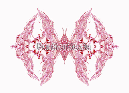 abstract conceptual design pink butterfly over