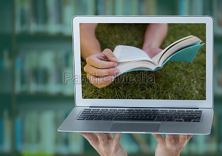 frau stilleben laptop notebook computer bestellen