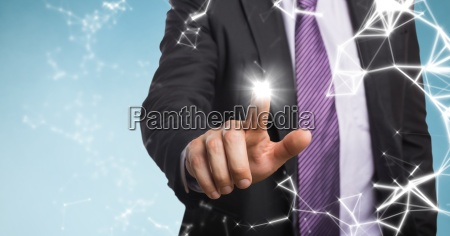business man mid section with flare