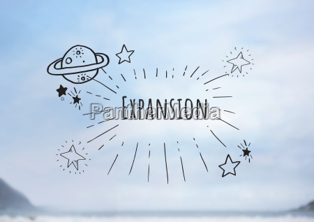 expansion text with drawings graphics