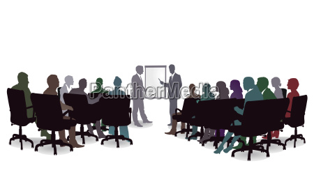 business seminar meeting discussion illustration