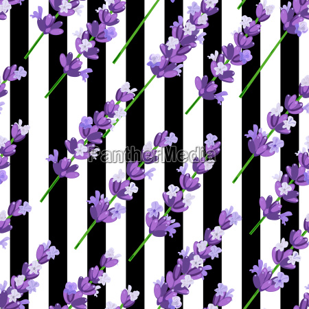 seamless pattern of provence violet lavender