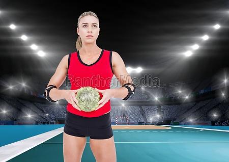 frau sport weiblich ball feld europid