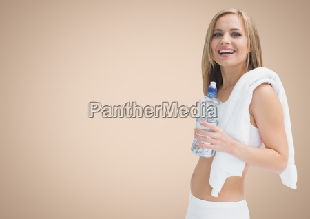 fit woman holding a water bottle
