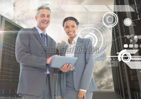 digitally generated image of businessman and