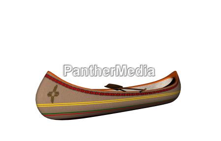 kanu der indianer freigestellt