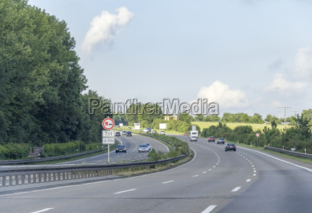 german highway scenery