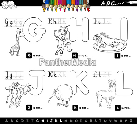 color book educational cartoon alphabet for