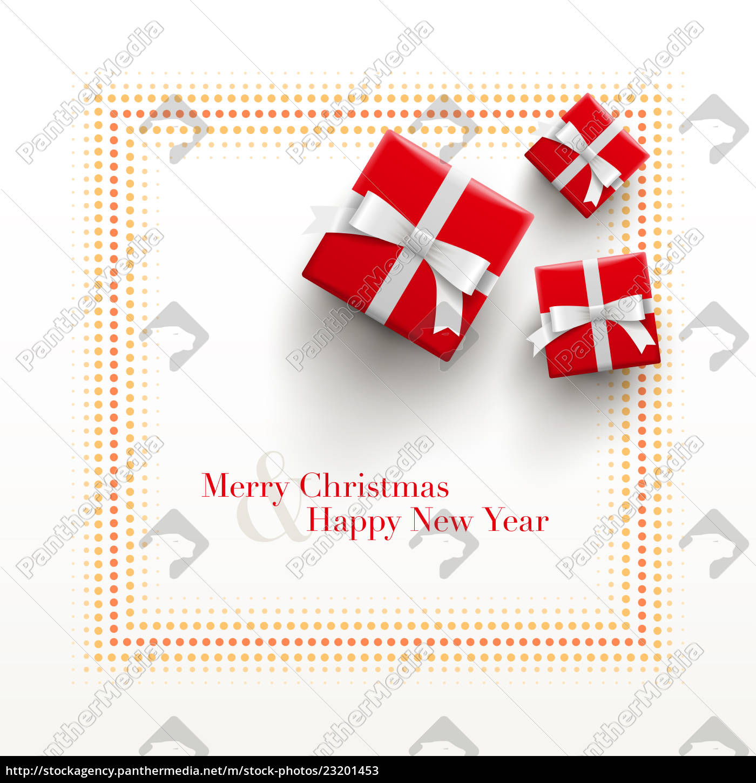 Karte Frohe Weihnachten.Lizenzfreies Bild 23201453 Frohe Weihnachten Und Frohe Weihnachten Karte Design