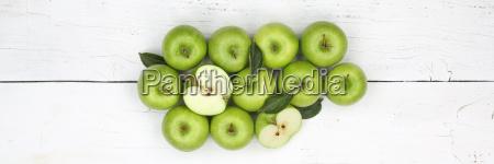 AEpfel apfel gruen obst banner frucht
