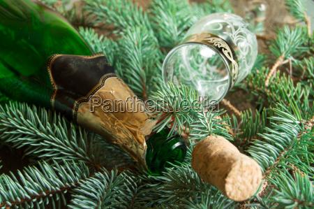AEste zweige party feier fest flasche