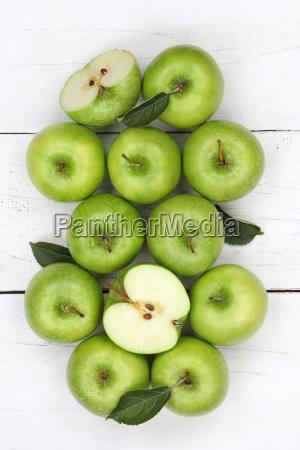 apples apple green fruit high edge