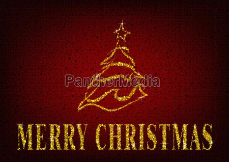 weihnachtsbaum auf rotem glitter hintergrund
