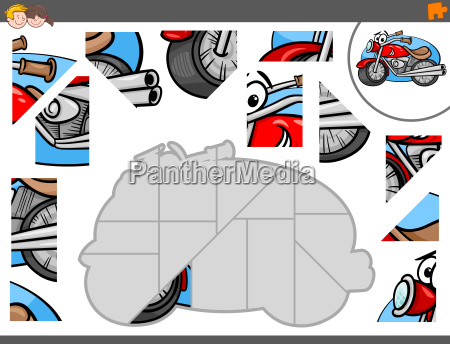 jigsaw puzzle game with motorbike characters