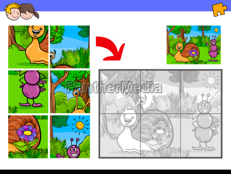 jigsaw puzzles with tiny animal characters