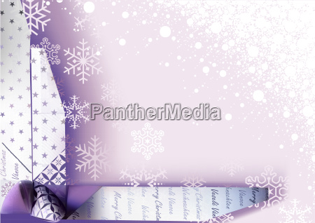 christmas background with wrapping decoration