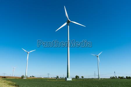wind turbines seen in rural germany