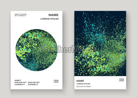 neonexplosionsfarbe plaetschern kuenstlerisches abdeckungsrahmendesign blauer dunkler