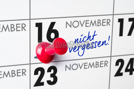 wall calendar november 16