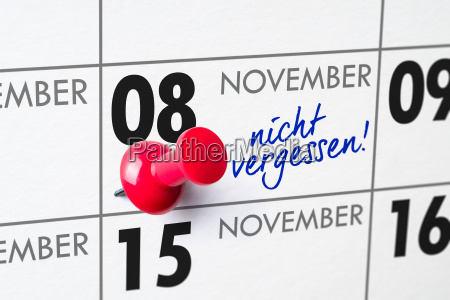 wall calendar november 8
