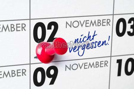 wall calendar november 2