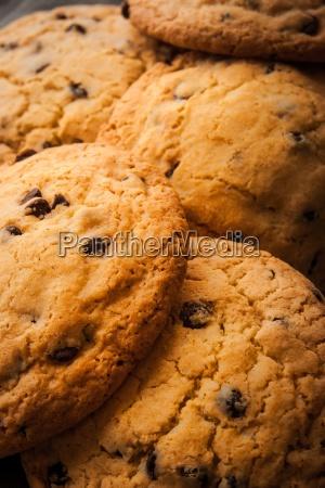 galletas de chocolate con leche en