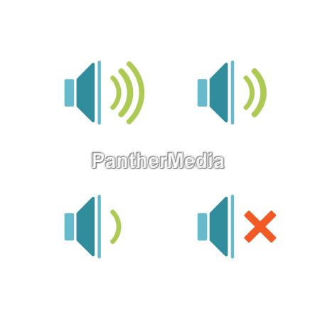 klang schall knopf button audio ikone
