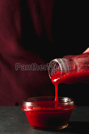 transfusion of cranberry sauce from a