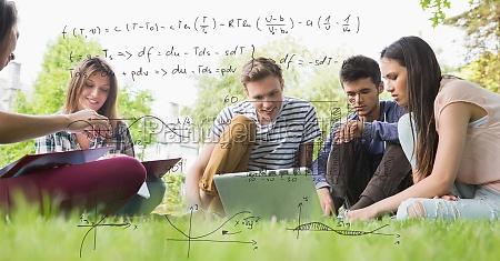 digital erzeugtes bild von formeln mit