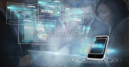 digital generiertes image von smartphone und