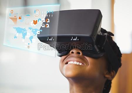 junge traegt vr virtual reality headset