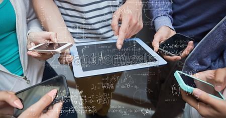 digitales zusammengesetztes bild von den studenten