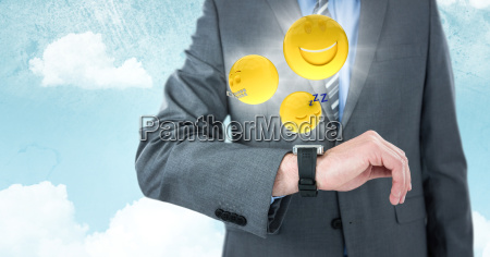 business man mid section with watch