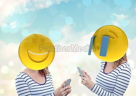 lachende und weinende frau emoji gesicht