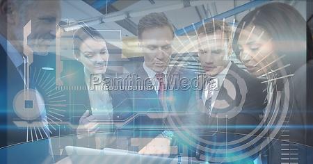 digital composite image of tech graphics