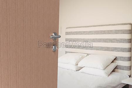 bedroom seen from open door