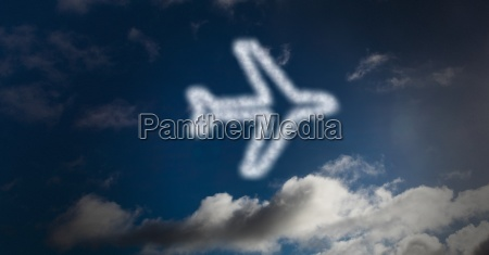 digital composite image of airplane shape
