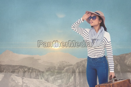 composite image of woman in the