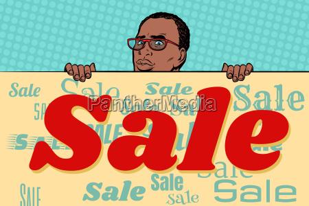 african businessman sale poster background
