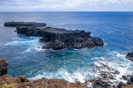 landschaftspanorama des pazifischen ozeans von den